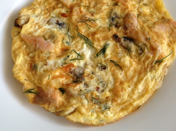 Smoked Salmon and Mushroom Omelette