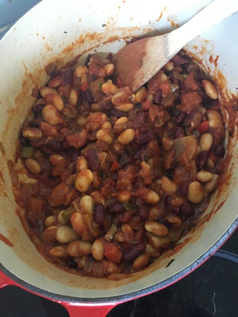 Veggie packed baked beans