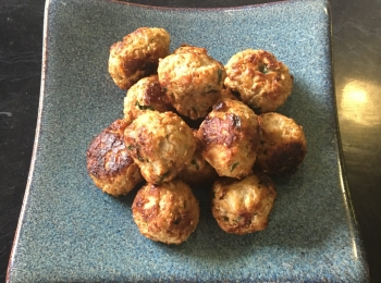 Toddler friendly Pork and Wombok Meatballs